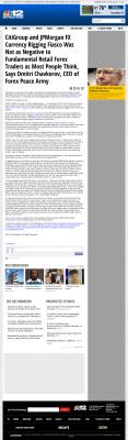 CitiGroup and JPMorgan Currency Rigging  WWBT NBC-12 (Richmond, VA)  by Dmitri Chavkerov