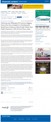 CitiGroup and JPMorgan Currency Rigging  Wichita Eagle (Wichita, KS)  by Dmitri Chavkerov